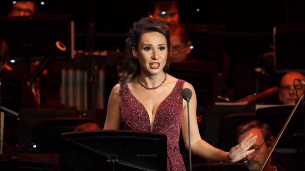 Maria Kataeva. Moments of concerts with Placido Domingo 17.10.19